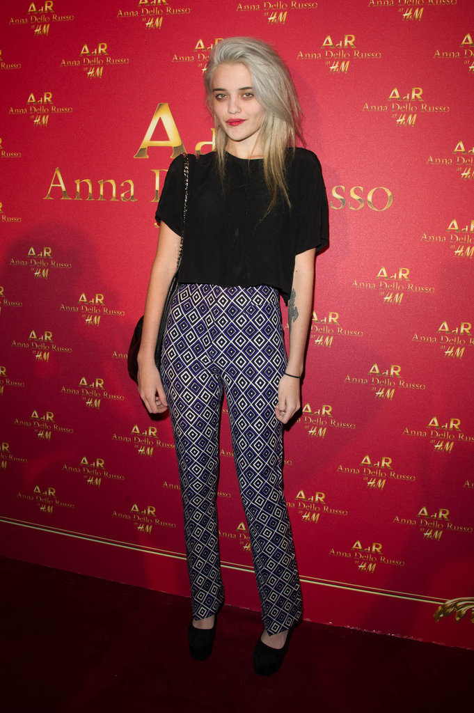 Singer Sky Ferreira went for printed intrigue — in the coolest tailored trouser silhouette — for Anna Dello Russo's H&M launch party.