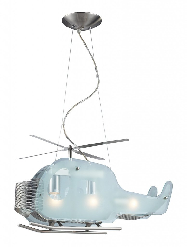 ELK Lighting 3-Light Helicopter Shaped Pendant Fixture
