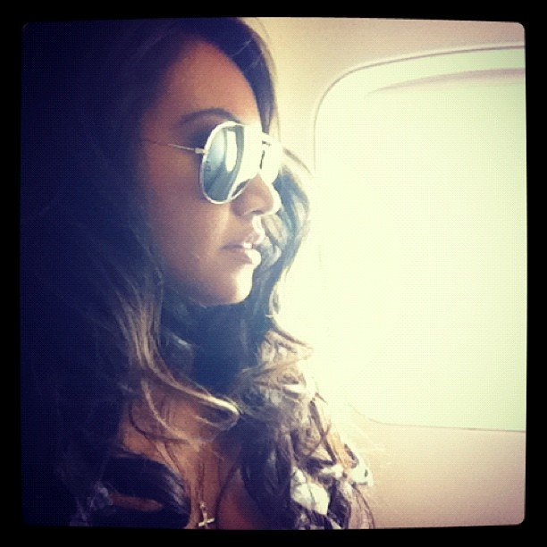 Jessica Mauboy took flight. Source: Instagram user mushroom1