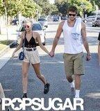 Liam Hemsworth and Miley Cyrus held hands in LA.