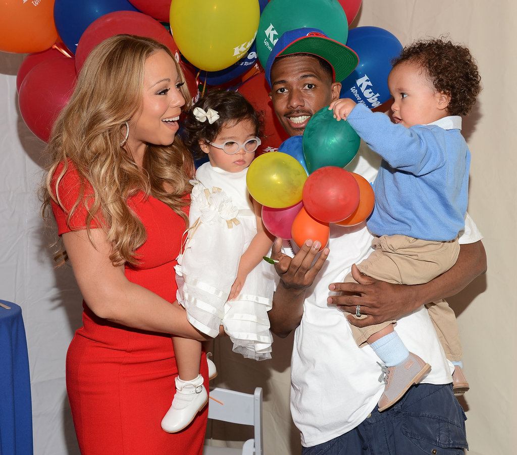 Nick Cannon and Mariah Carey spent the day with their little ones, Moroccan and Monroe Cannon, in Santa Monica.