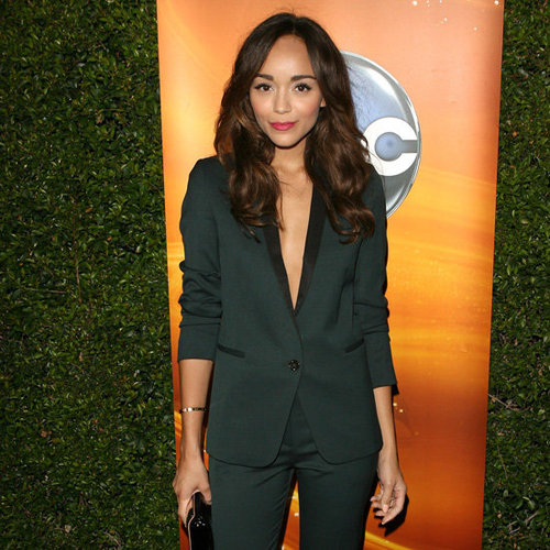 Ashley Madekwe Wearing Green Tuxedo Blazer