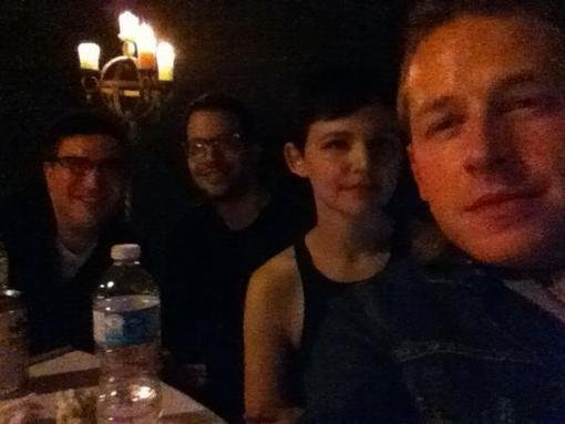 Josh Dallas shared a picture from the Once Upon a Time premiere party. Source: Twitter user joshdallas