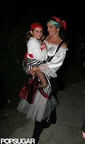 Cindy Crawford and her daughter, Kaia, got dressed up to trick-or-treat around Malibu in 2006.