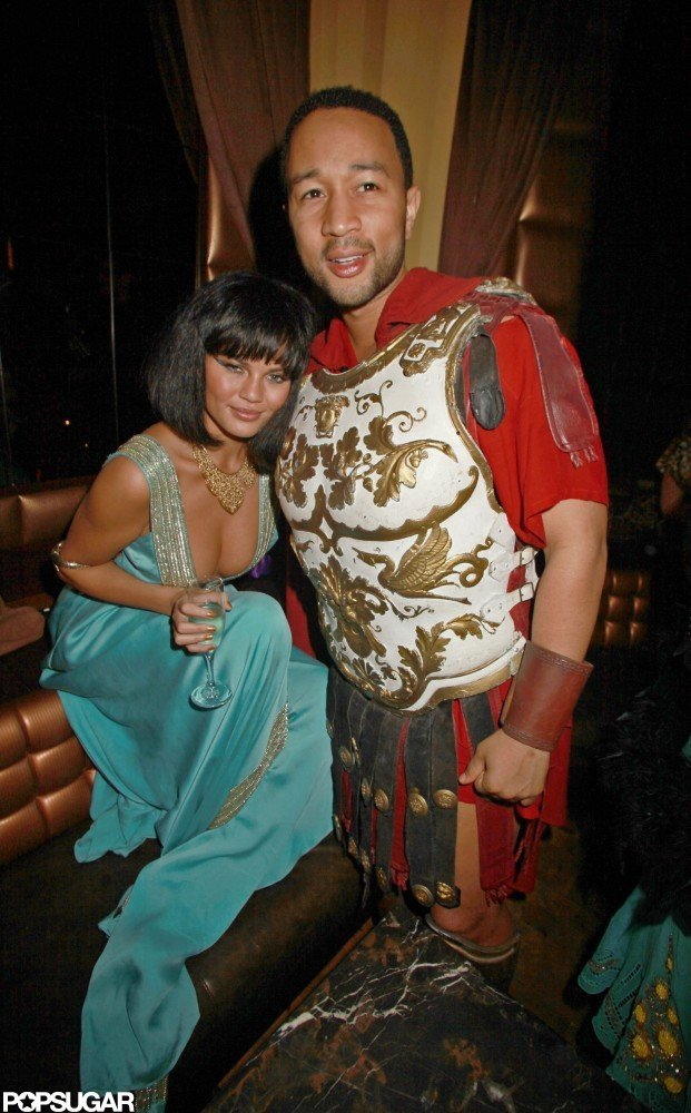 John Legend and Chrissy Teigen were decked out at Heidi Klum's 2010 party in NYC.