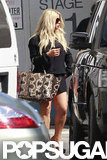 Jessica Simpson carried a bag on one arm.