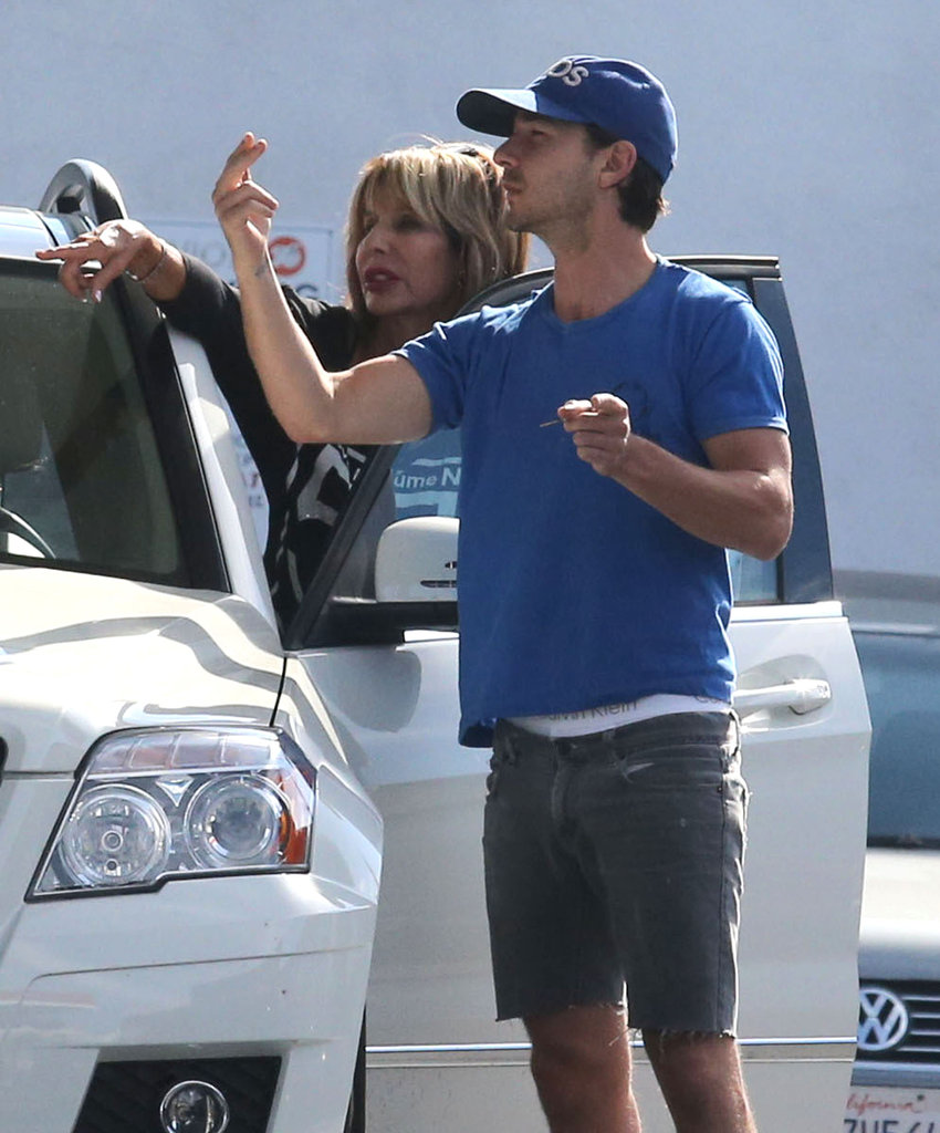 Shia LaBeouf wore a pair of shorts and a baseball cap as he ran errands.