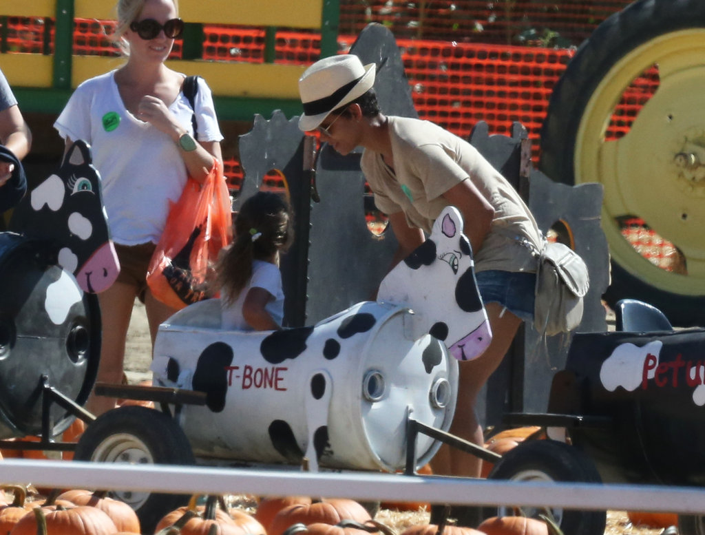 Halle Berry took Nahla Aubrey over to a ride at the pumpkin patch.