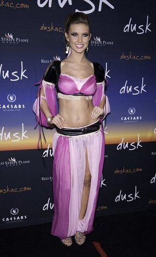 Audrina Patridge bared her midriff in a sexy costume at her Atlantic City Halloween party in 2009.