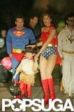 Kate Beckinsale was one hot Wonder Woman while trick-or-treating with her family in LA in 2004.