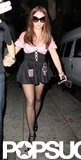 Britney Spears wore a somewhat scandalous costume around LA in 2007.
