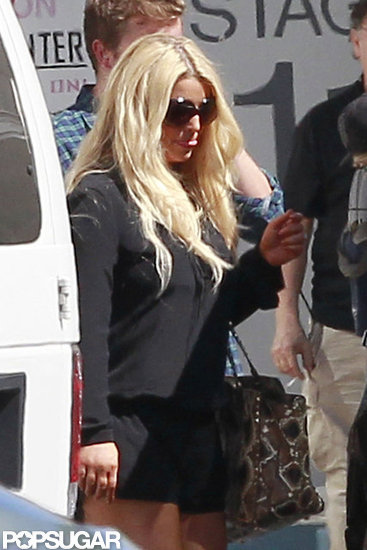 Jessica Simpson headed to a photo shoot.