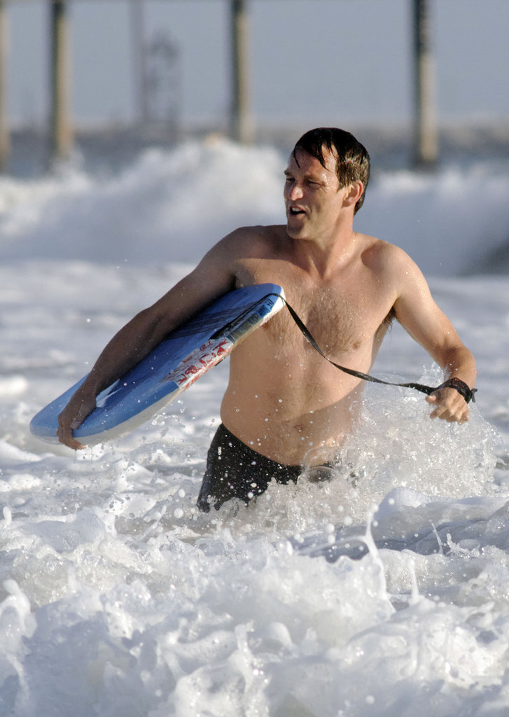 Stephen Moyer made a splash in Venice Beach.