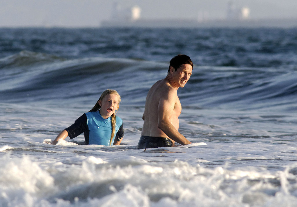 Stephen Moyer took a swim in Venice Beach.