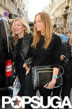 Kate Moss and Stella McCartney both wore all black.