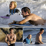 Stephen Moyer Goes Shirtless to Splash Around the Ocean With Lilac