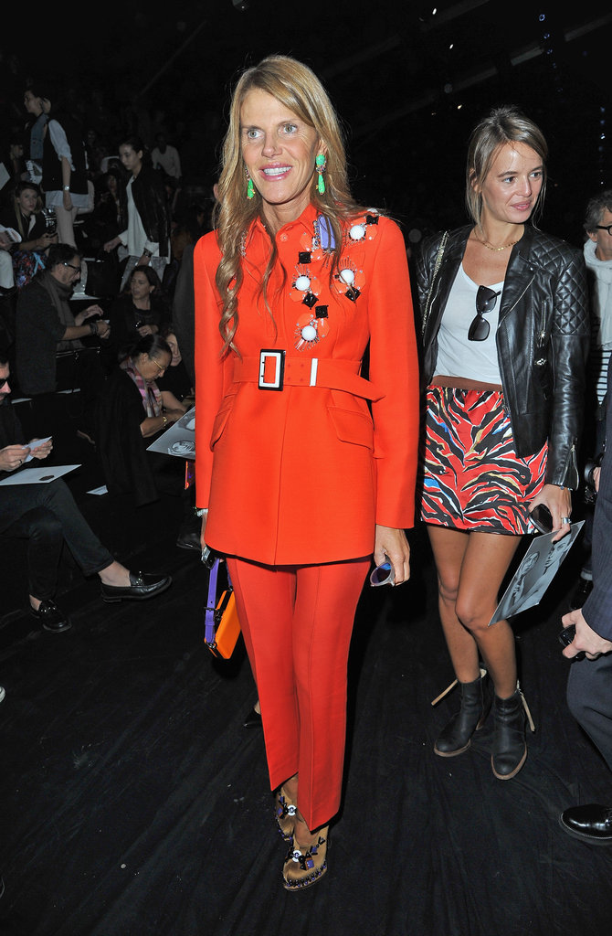 Anna Dello Russo wore one of Prada's Fall 2012 looks to the Viktor & Rolf show.