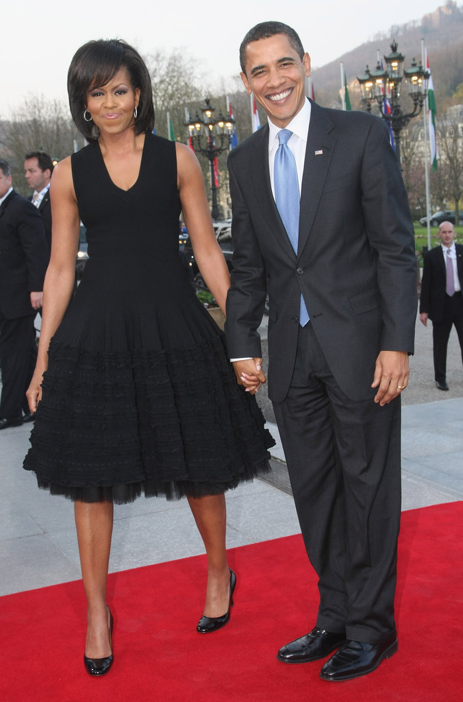 President Obama and Michelle arrived at a NATO summit in Germany in the Spring of 2009.