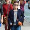 Rachel Bilson's Tan Saddle Bag
