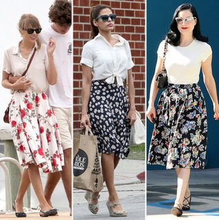Stars Wearing Retro Floral Skirts For Summer and Fall