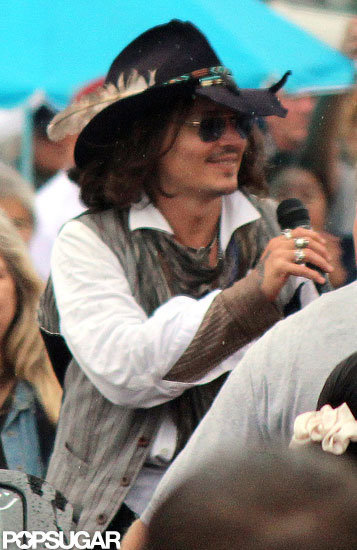 Johnny Depp made a surprise visit to the Comanche Nation Fair in Lawton, OK.