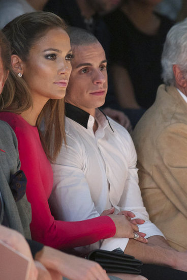 Jennifer Lopez sat front row at Valentino.