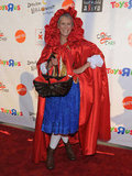 Jamie Lee Curtis wore a Red Riding Hood outfit to the annual Dream Halloween charity event in LA in 2011.