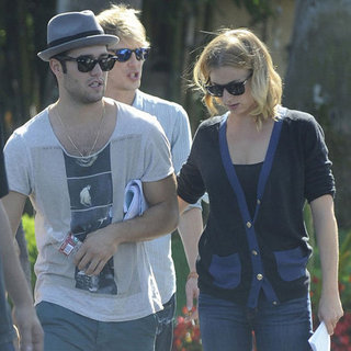 Emily VanCamp and Joshua Bowman Filming Revenge | Pictures