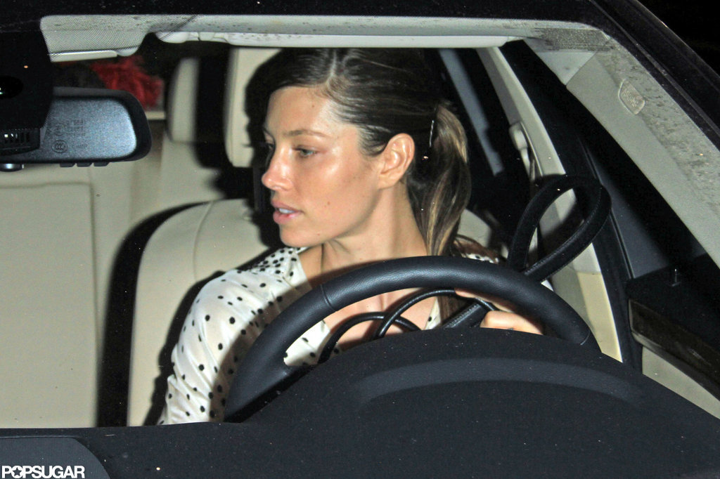 Bride-to-be Jessica Biel hung out with friends.
