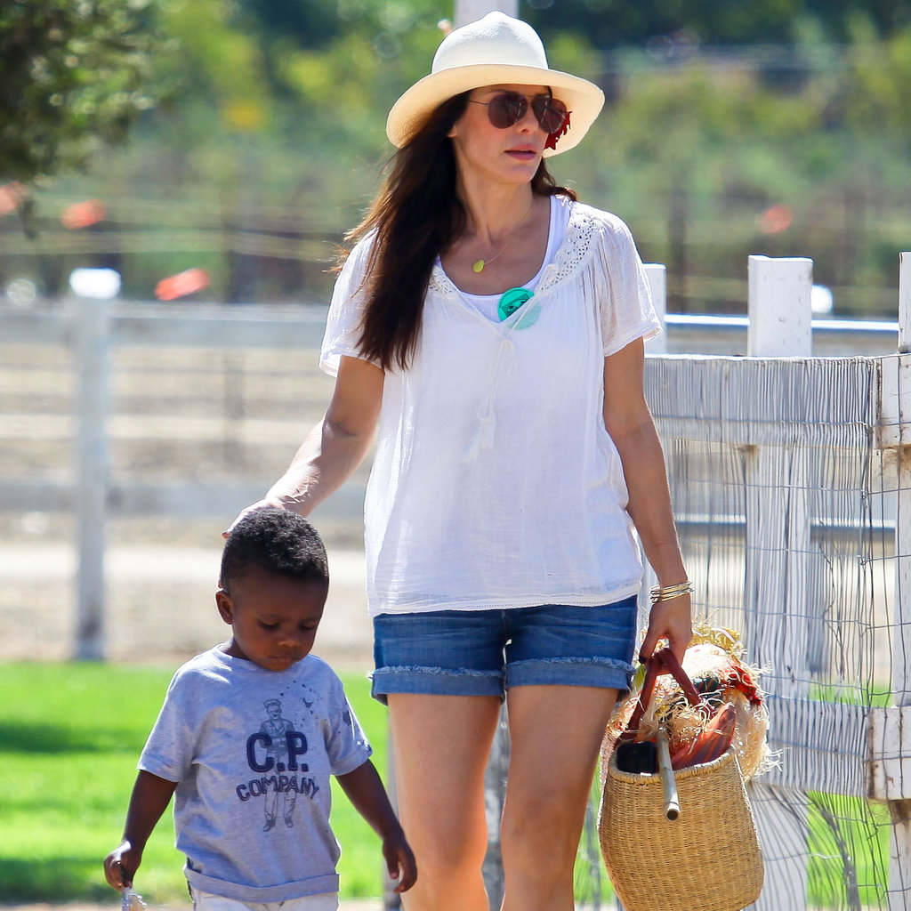Sandra Bullock took Louis out in LA.