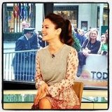 Rachel Bilson stopped by the Today show. Source: Instagram user todayshow
