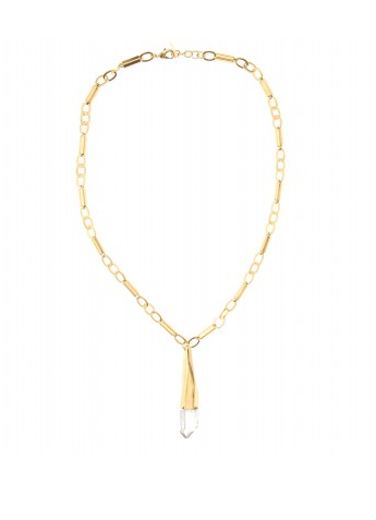 This Vionnet Long Chainlink Necklace With Pendant ($839) offers a more delicate play on the trend, perfect for dressing up an evening look.