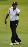 Samuel L. Jackson walked the greens in Virginia Water, England, in August 2011.
