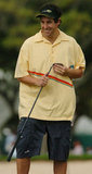 Adam Sandler was captured in action at the January 2004 Sony Open Pro-Am in Hawaii.