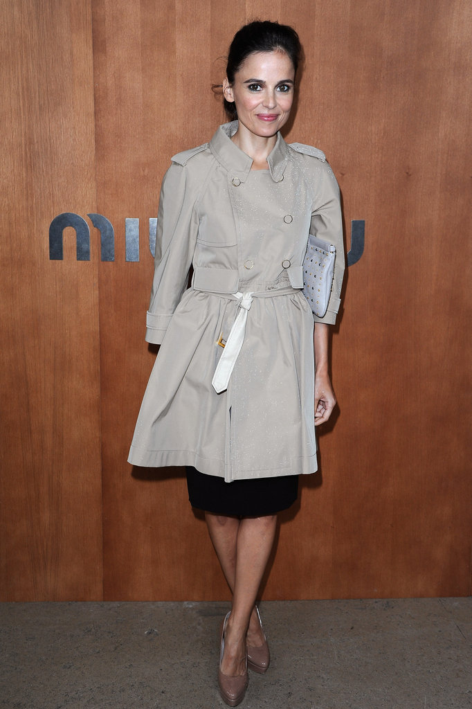 Elena Anaya was on hand for the Miu Miu show during Paris Fashion Week.