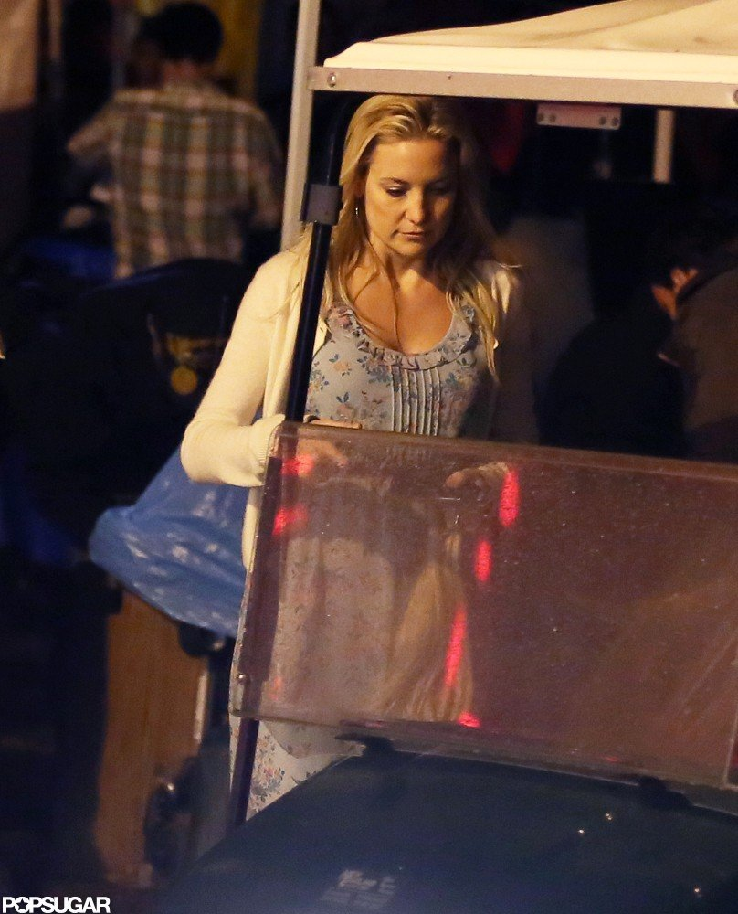 Kate Hudson was on the Clear History set at a fair.