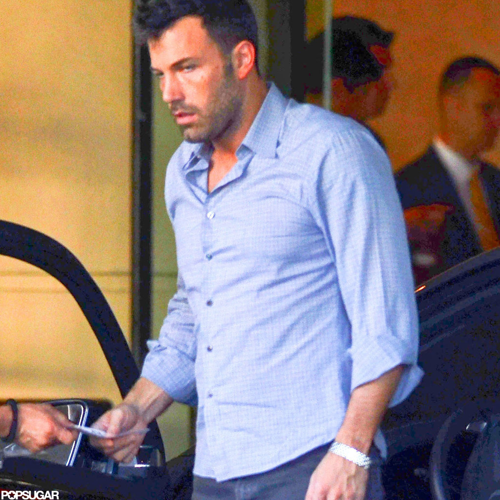 Ben Affleck got his car at the valet.