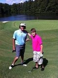 Justin Bieber joined golf great Bubba Watson for a round in 2011.  Source: Twitter user bubba watson