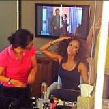 Tyra Banks prepped for a photo shoot. Source: Instagram user tyrabanks