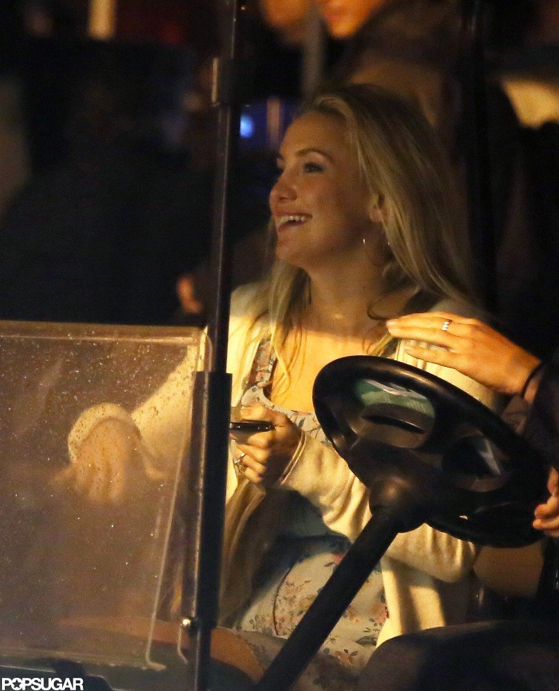 Kate Hudson Wraps Up a Late Night on Set With Larry David