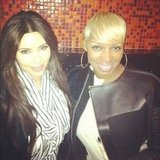 Kim Kardashian ran into pal Nene Leakes. Source: Instagram user kimkardashian