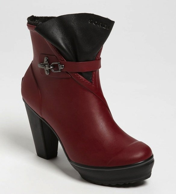 "This is one of those ""you can have your cake and eat it too"" moments. Introducing the Sorel Medina Rain Boot ($200): it's puddle-proof and has all the appeal of a chic-meets-slightly undone ankle boot in a sensuous shade of red."