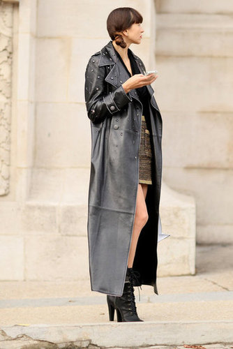 An embellished leather coat is the kind of statement piece that can make a whole look.