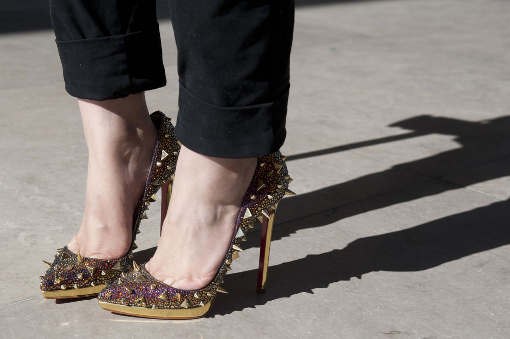 Spiked and glitzy heels were the epitome of statement accessories.