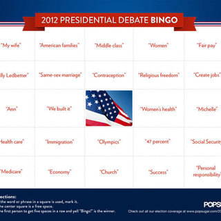 Presidential Debate Bingo Game