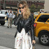 Jessica Alba Wearing Leather Biker Jacket