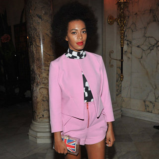 Solange Knowles Wearing Pink Suit