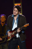 John Mayer played guitar.