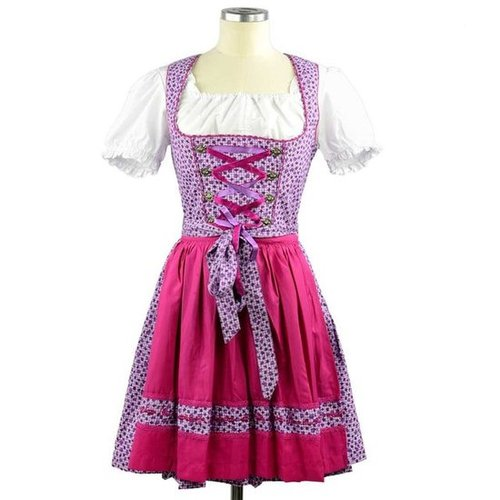 Wiesnkonig Lilac Pink Traditional German Dirndl ($160)