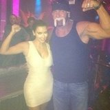 Kim Kardashian posed with Hulk Hogan in the club. Source: Instagram user kimkardashian